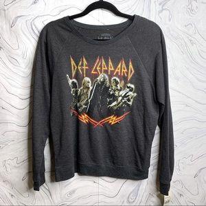 NWT Def Leppard Crew Neck Sweatshirt XL